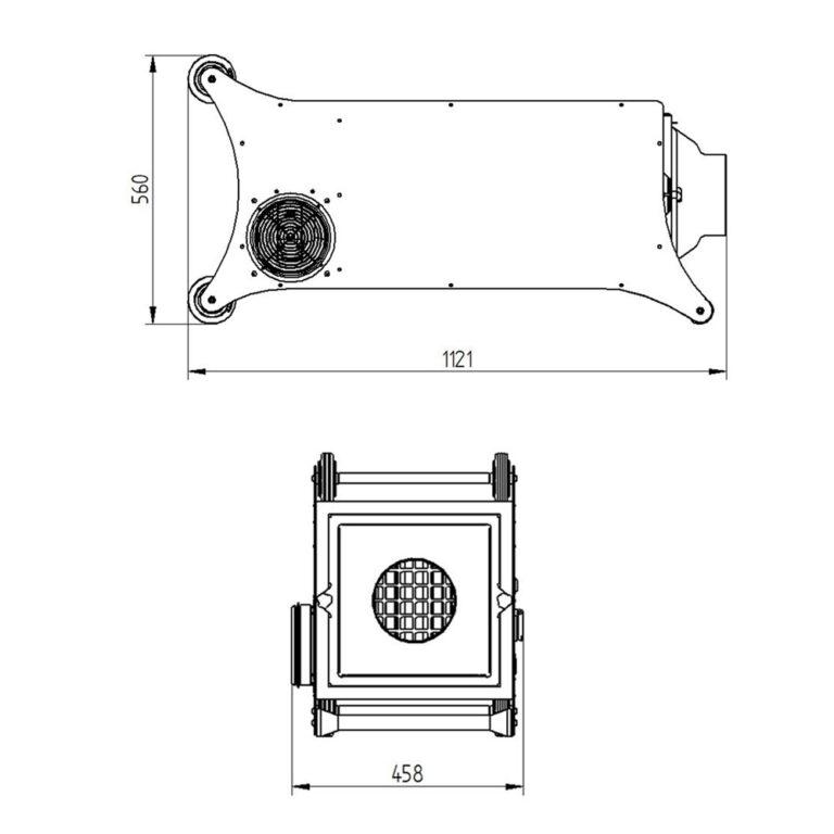pressovac suction / filter unit SFU-10 dimensions
