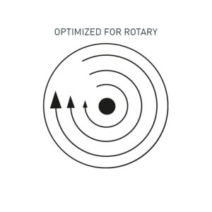 Optimized for rotary polishers
