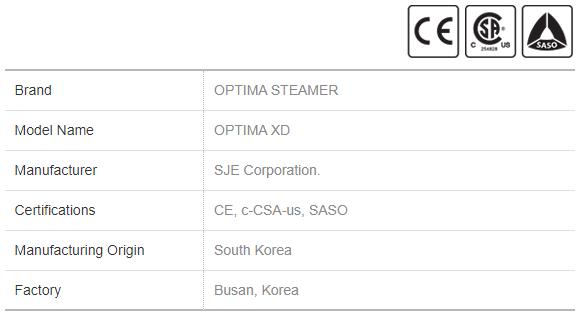 Diesel Steamer Optima XD General Info